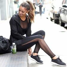 Women Mesh Yoga Gym Leggings Fitness Workout Sport Jogging High Waist Long Pants