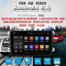 "9"" Android 2 Din Car stereo Radio Player GPS Nav WIFI/BT/Mirror Link For VW"
