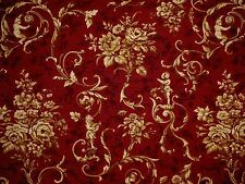 Waverly JARDIN D'AMOUR CABERNET Gold Toile Home Decor Drapery Sewing Fabric BTY