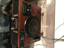 stereo system with turntable and remote control, cassette, CD player/tuner/clean