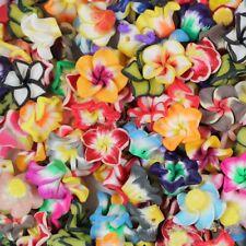 50X Mixte Fleur Perle Intercalaire Fimo Floral Polymère Pâte Bracelet Bijoux DIY