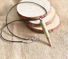 Unisex's Men Silver Titanium Steel Bullet Pendant Necklace Chain Jewelry Gift