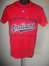 Neuf Cleveland Indians Majestic HOMMES S Petit Rouge Chemise