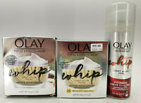 OLAY TOTAL EFFECTS WHIP ACTIVE MOISTURIZER +1 WITH SUNSCREEN & CLEANSING WHIP
