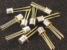Qty 10: TESTED 2N918 RF Transistor Mil-Spec JANTX2N918 Gold Leads HF/IF/VHF New