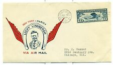 LINDBERGH 1927 C10 FDC WASHINGTON,D.C. JUNE 18,1927 FIRST MAUCK CACHET