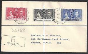 Somaliland 1939 R-cover Berbera to London