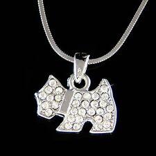 w Swarovski Crystal WESTIE SCOTTISH Terrier Scottie DOG Puppy Charm Necklace New