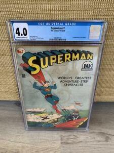 Superman #7 CGC Graded 4.0 Comic Book - DC Comics - No Reserve