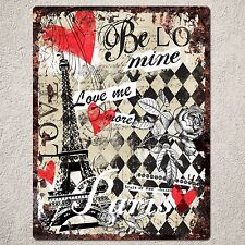 PP0090 Vintage Paris Sign Rustic Parking Plate Home Restaurant Cafe Gift Decor
