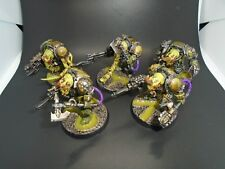 Warhammer 40k Painted Chaos Space Marines Nurgle Terminator Squad