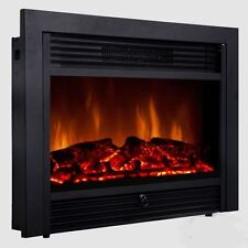 "Embeddable Electric Wall Insert Fireplace 28.5"" Home Heater Wood Stove w/Remote"