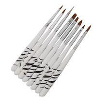 8pcs Acrylic Nail Art Brushes UV Gel Brush Dotting Pen Tool Set UK SELLER