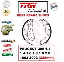 Para Peugeot 306 1.1 1.4 1.6 1.8 1.9 2.0 1993-2002 Eje Trasero Zapatas Freno