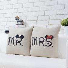 x2 (Paire) Mickey Mouse & Minnie Mr & Mrs Lot De Coussin housses. Tout Neuf