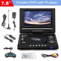 7.8''  Portable DVD FM TV Player Digital Multimedia Player U Drive Game