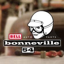 "Bell Bonneville sticker decal old school hot rod rat helmet vintage 5.25"""