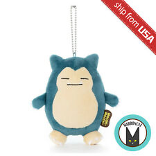 Japan Pokemon Mocchi-Mocchi- Snorlax Plush Mascot Mochi Soft Doll Keychain Charm