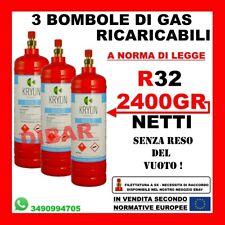 BOMBOLA DI GAS REFRIGERANTE R32 2,5 KG NET 1900 GR RICARICABILE SENZA RESO VUOTO