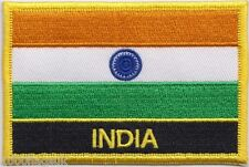 India Flag Embroidered Patch Badge - Sew or Iron on