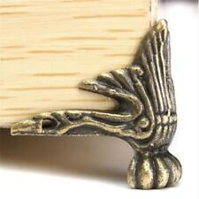 4pcs Antique Brass Jewelry Chest Wood Case Feet Leg Corner Protector Decor B