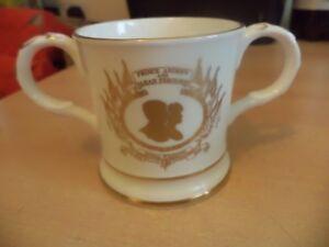 OLD VINTAGE royalty china mug prince andrew FERGIE royal wedding COALPORT LTD ED