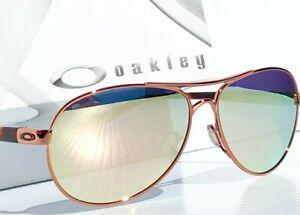 Oakley Feedback Rose Gold POLARIZED Galaxy Rose Mirror Aviator Women's Sunglass