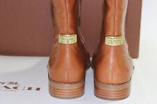 NIB COACH 6 Women's Cinnamon 100% Smooth Calf Leather MIRRIAM Side Zip Boot