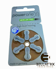 60 Power One Hearing Aid Batteries, SIZE 312, Newest Version Exp 2021