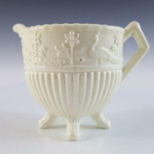 MARKED Sowerby #1350 Victorian Queen's Ivory Milk Glass Creamer