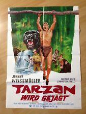 Filmposter * Kinoplakat * Tarzan wird gejagt * WA 70er * Kurt Neumann