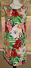 Talbots Size 8 Floral Sleeveless Dress w/ Pockets Bright Colored Work Career AF