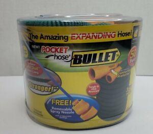 NEW Pocket Hose Bullet - 3/4in 50ft, Expanding Hose. As seen on TV. NRFB