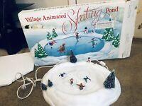 Department 56 Village Animated Skating Pond 5229-9 Original Box w/Instructions