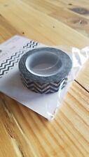 "Queen & Co Washi Trendy Tape! ""Chevron Black"" 10 yards each roll!"