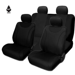 For Nissan New Soft Black Cloth Car Truck Seat Covers With Gift Full Set