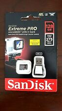SanDisk 128GB Extreme Pro Micro SD Memory Card UHS-II 275MB/s+USB Card Reader