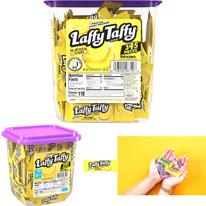 Laffy Taffy Candy Jar, Banana, 145 Count 145 Count (Pack of 1)