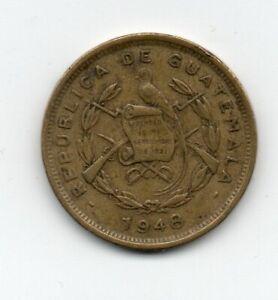 Guatemala 1948 1 Centavo KM 249 VF