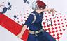 My Hero Academia Handtuch 70x35cm Katsuki * Shoto * Izuku  * original