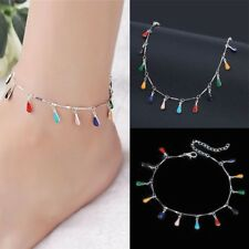 Colorful Crochet Sandals Beach Ankle Bracelet Foot Jewelry Barefoot Women