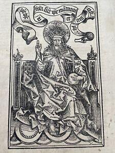 Schedel Weltchronik Schönsperger, Inkunabel 1497 Holzschnitt Blattgroß