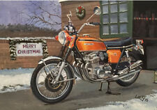 Honda CB750 Japanese Motorbike Motorcycle Christmas Xmas Card