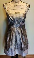 WOMEN'S  BCBG MAXAZRIA / Beige/ Silk/ Empire Waist Dress Size 6 MSRP $290.00,NWT