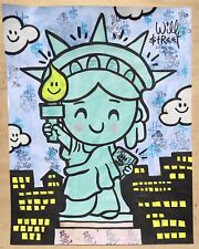 Will $treet original painting 🗽/ COA art banksy faile nft peter Liberty max Pop