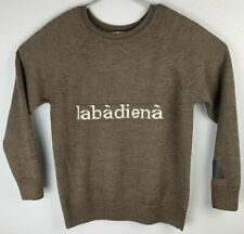 Labadiena Brown Long Sleeve Pullover Sweater Mens L Large