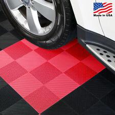 EZ DIY Garage Floor Tiles |Drain Tiles Red - USA MADE
