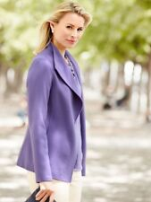 NWT $309 TALBOTS WOMEN PLUS DOUBLE FACED LILAC WOOL JACKET COAT SIZE L
