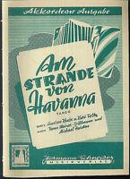 """Hans Weiner-Dillmann & Michael Harden :  """" Am Strande von Havanna """""""