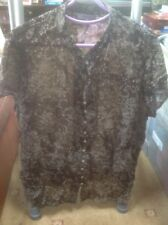 👀*❤️❤️❤️🌺** M & S size 22 Brown Mix Floral blouse top🌺SALE